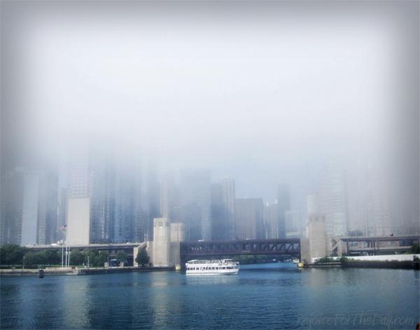 foggy city