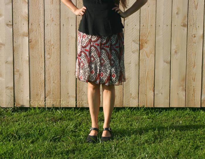 thrifted skirt