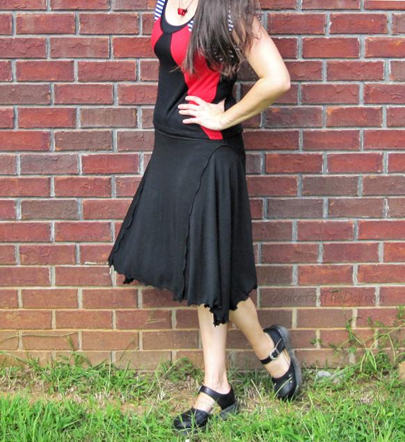 thrifted black skirt