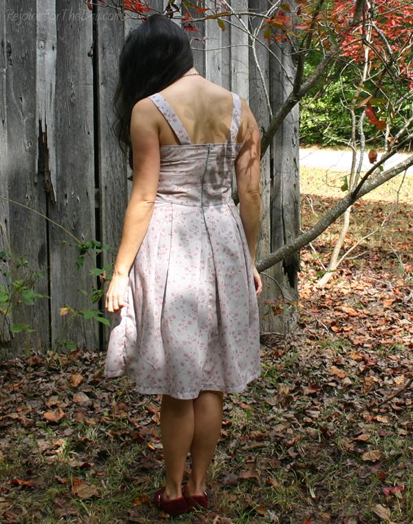October's Dress back