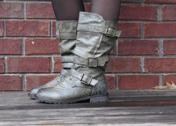 army green boots