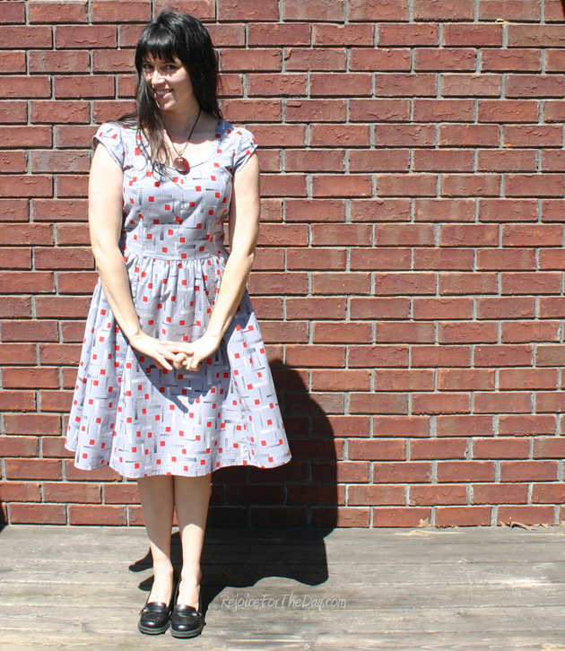 geometric retro dress