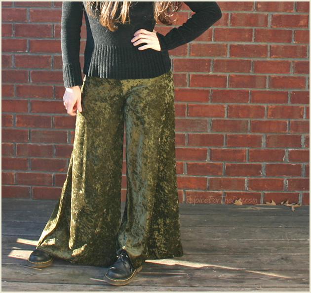 Green Velvet Pants 2