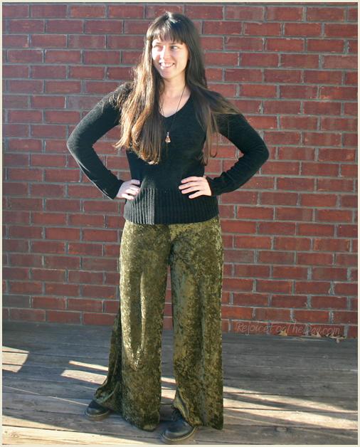 Green Velvet Pants 3