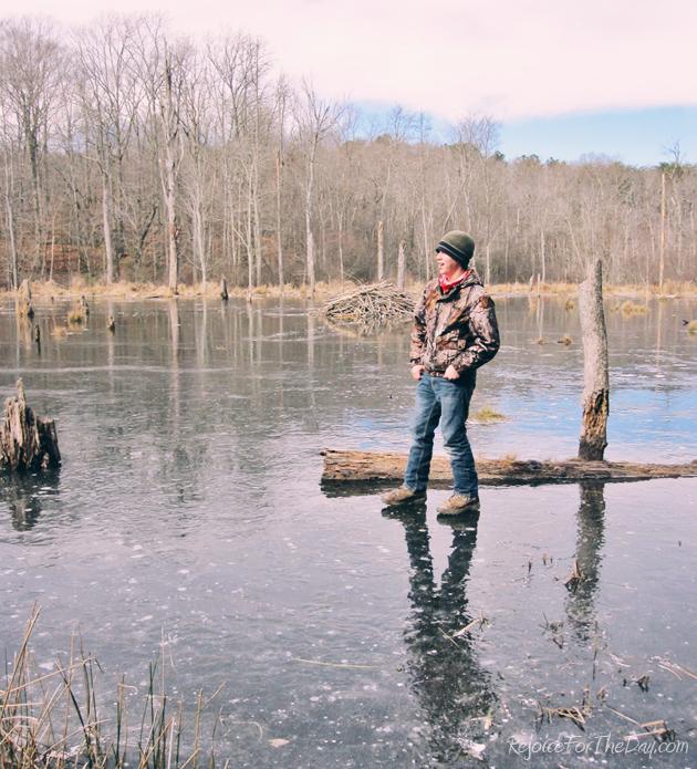 EJ on the beaver pond edit