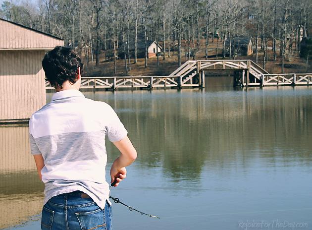 Fishing at Cub Lake
