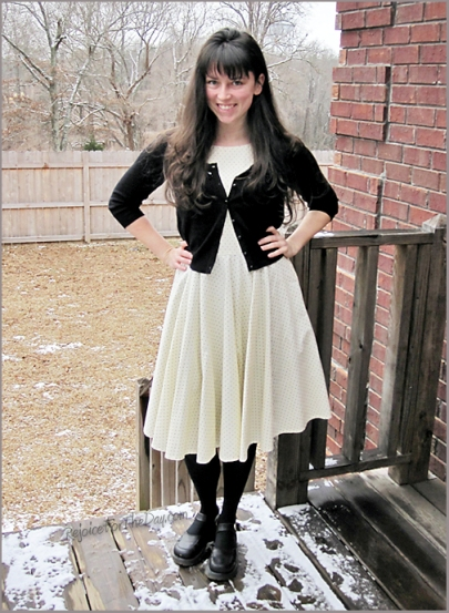 retro style dress with Doc Martens