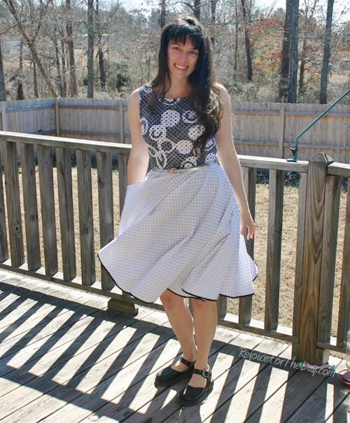 Twirling full dress