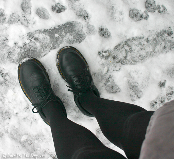 Doc Martens in the snow
