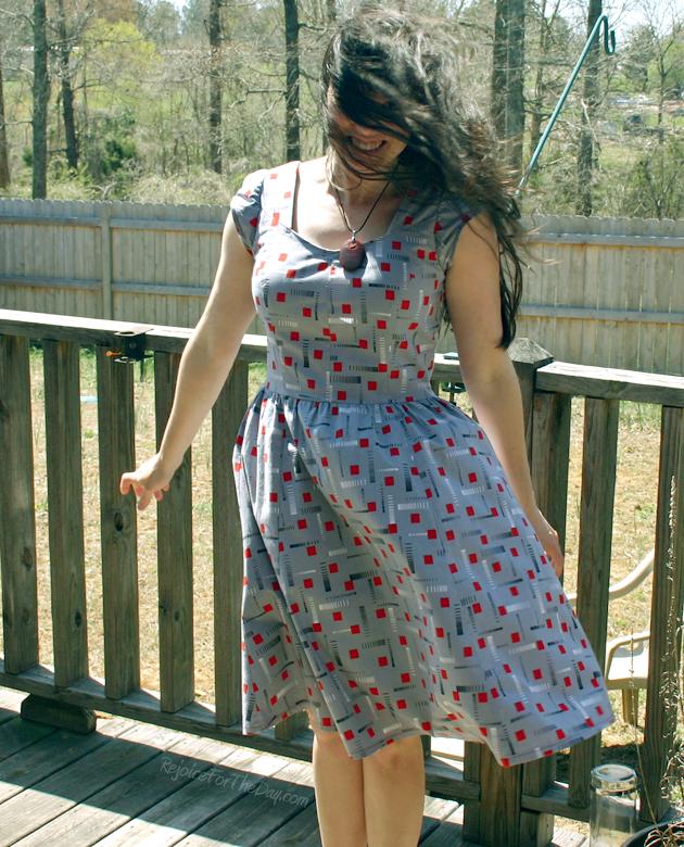 a dress in the wind