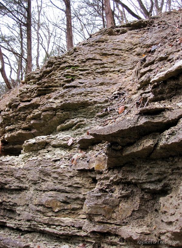 Nature rock wall