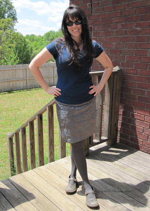 grey elastic skirt