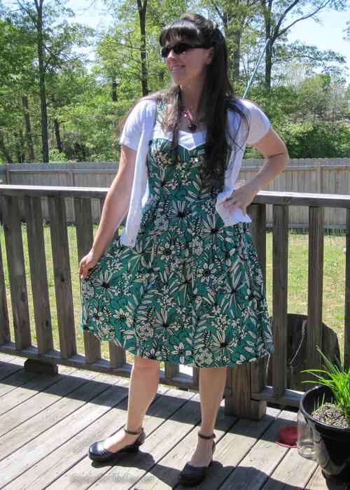 green pineapple dress