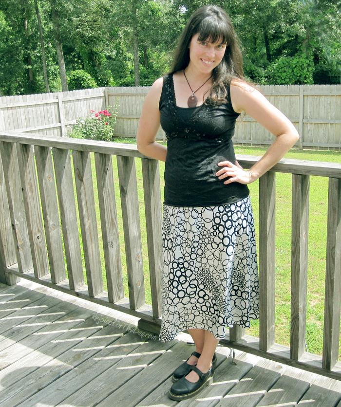 geometric patterned skirt
