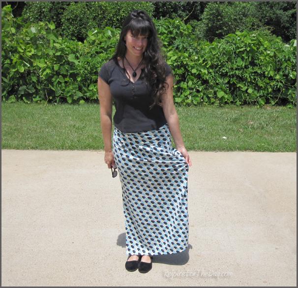handmade maxi skirt