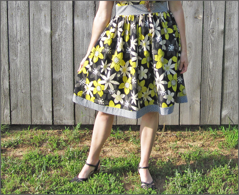 retro gathered skirt dress