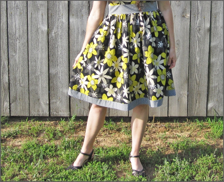 retro gathered skirt dress