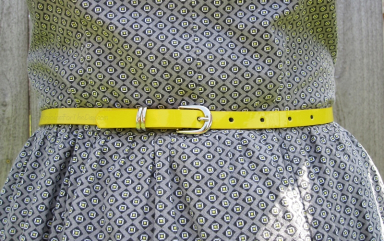 dress with a yellow belt