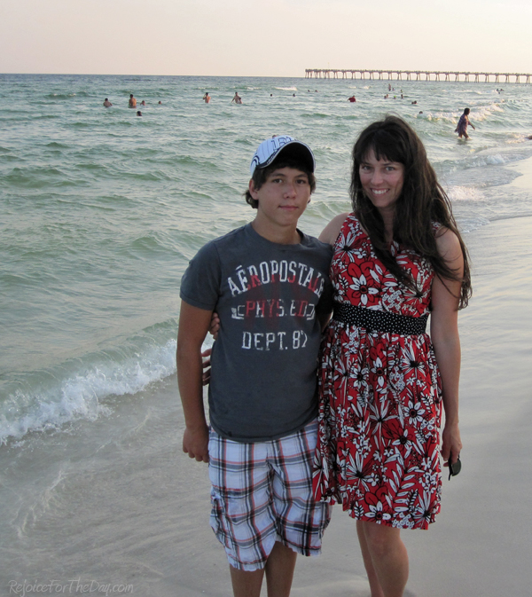 Me and EJ on the beach