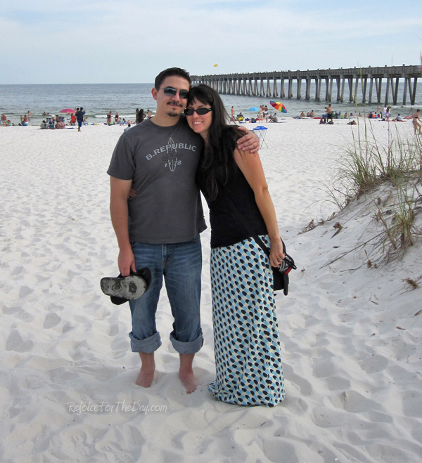Me and Stephen on the beach