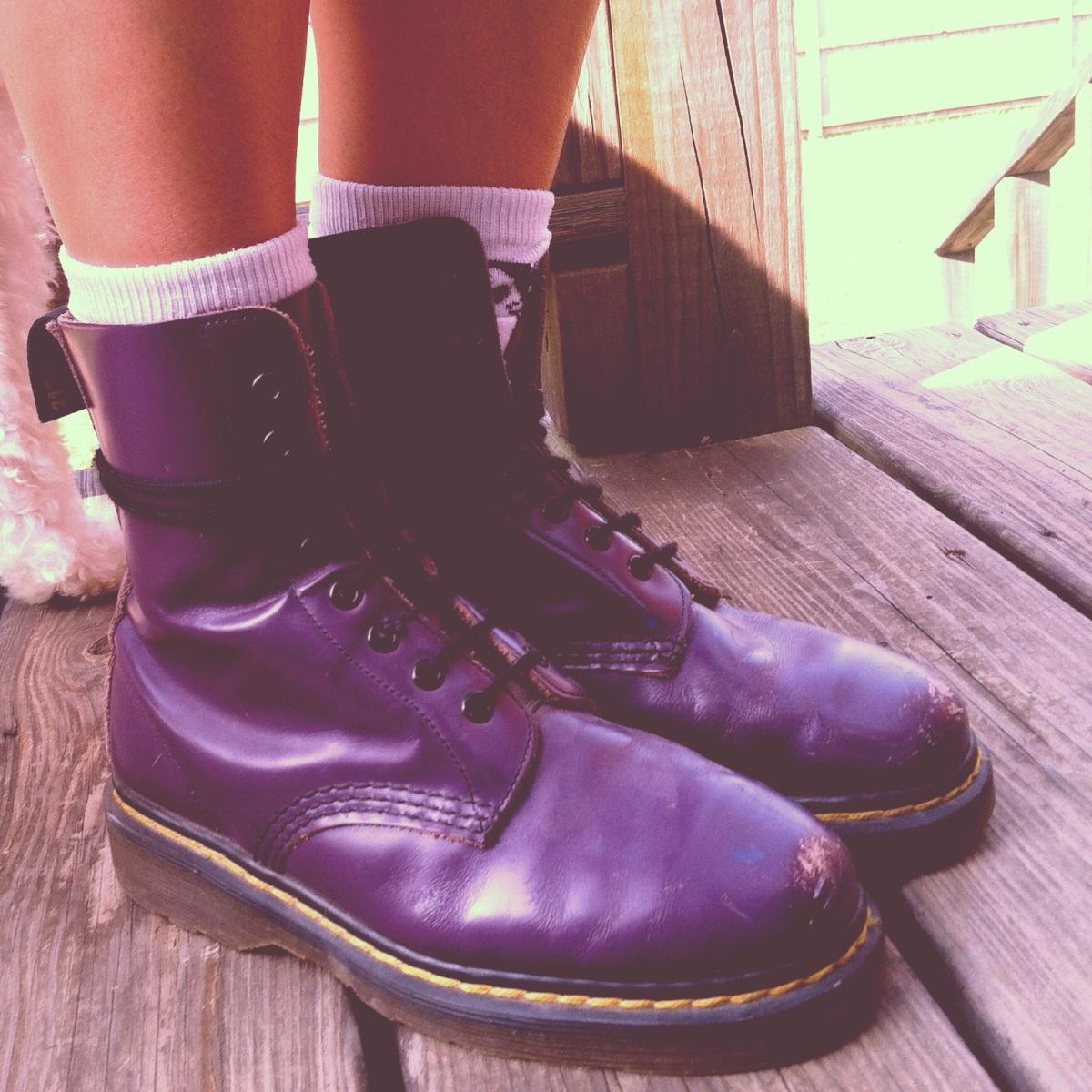 purple Doc Marten boots
