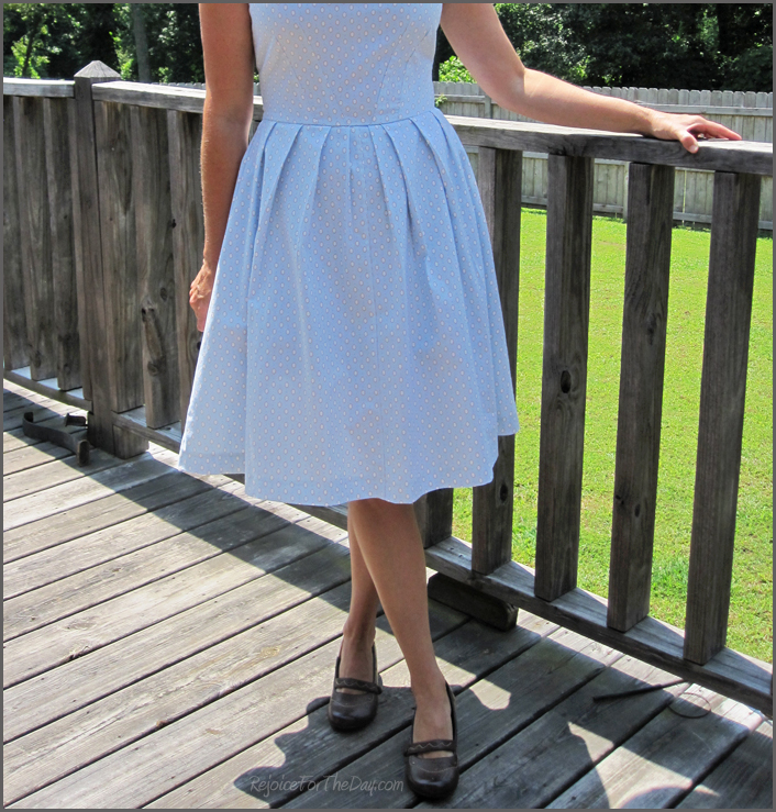 Simplicity 2444 pleated dress