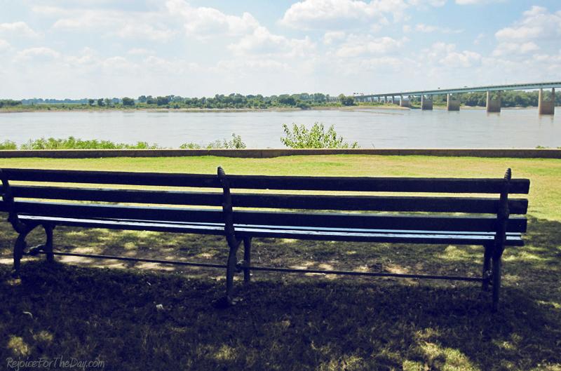 River walk bench