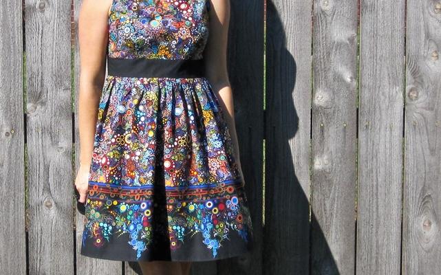 a modern retro dress