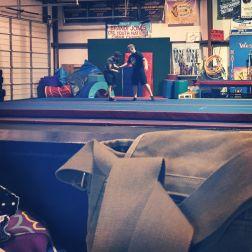 Routine - Wednesday's gymnastics class.