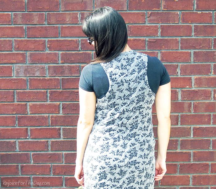 maxi dress back view