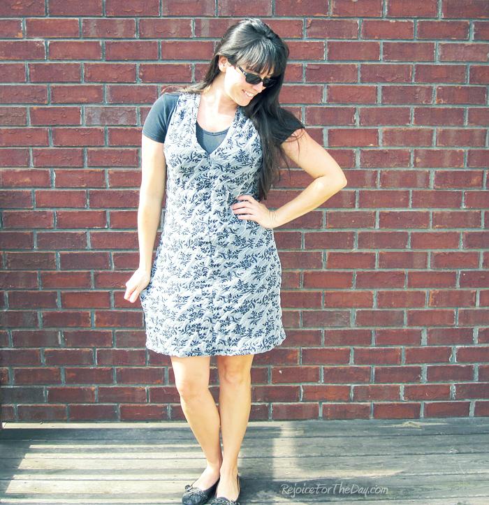 shortened maxi dress