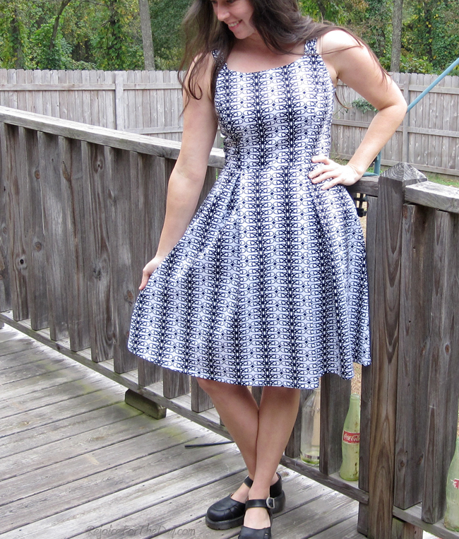 retro style geometric dress