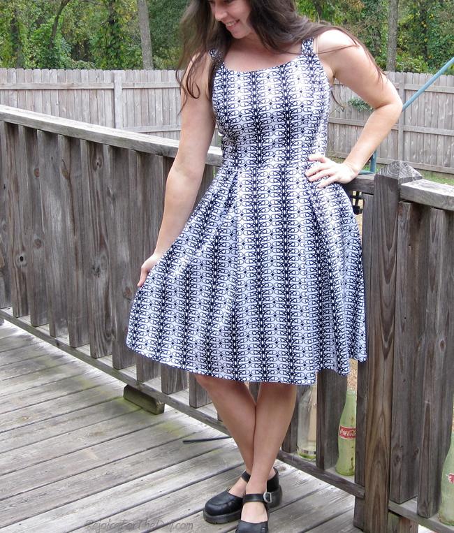 retro style geometric dress