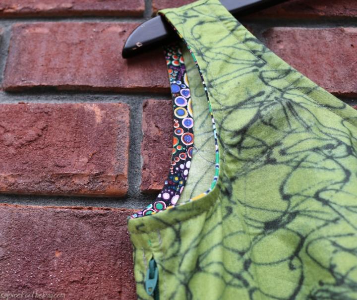The Tangled Green Dress binding