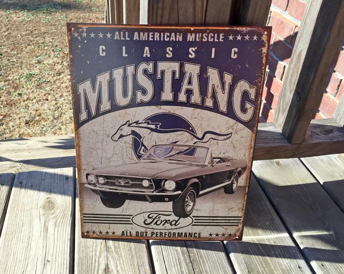 vintage market car sign