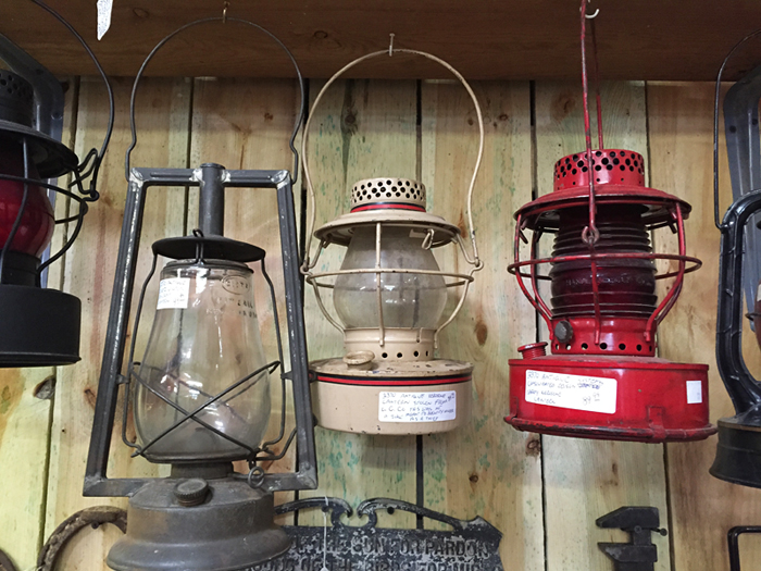 vintage market lanterns