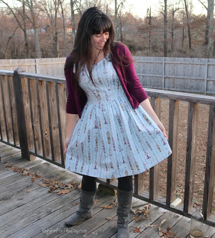 full skirted homemade dress