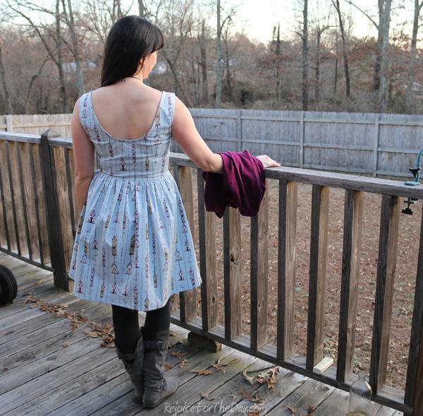 The Birdhouse Dress back view