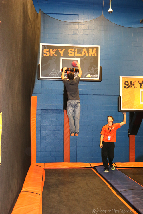 Sky Zone slam bunk