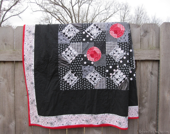 Black White and Red quilt