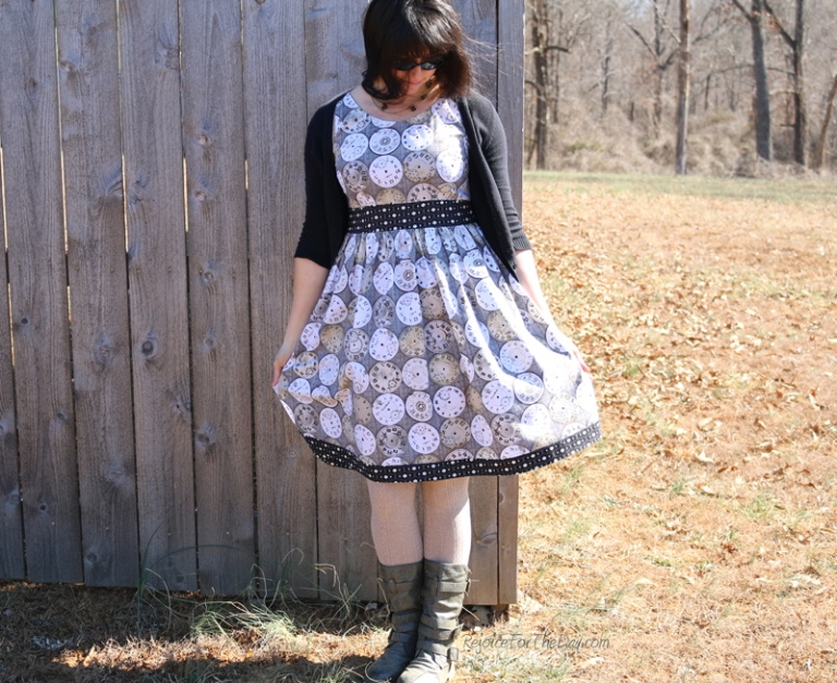 homemade retro style dress