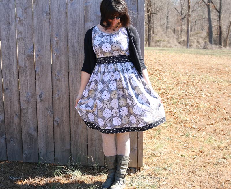 homemade retro style dress