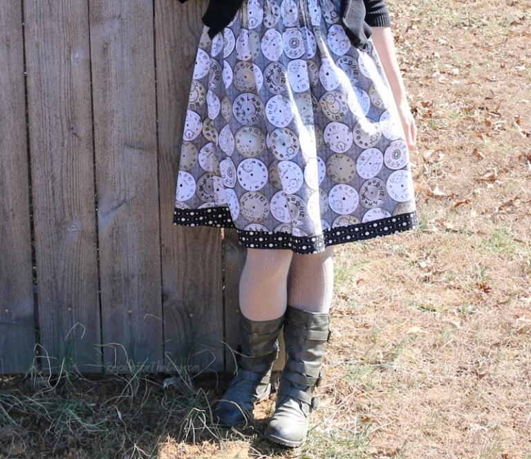 clock dress