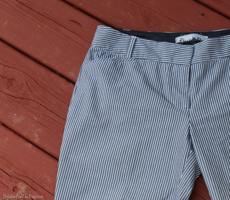 cropped pants close up