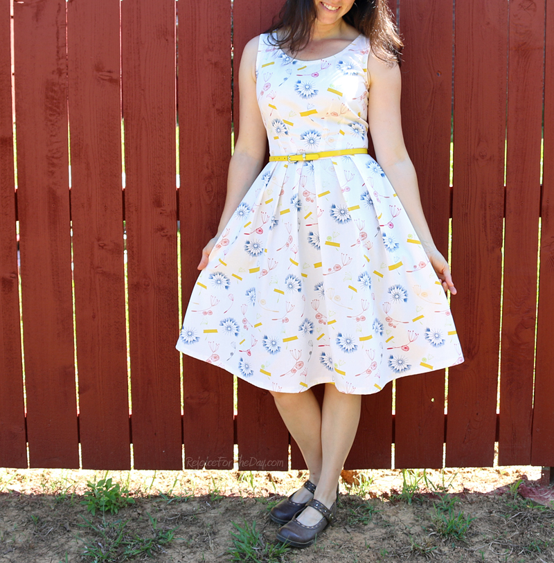 retro style fit and flare dress