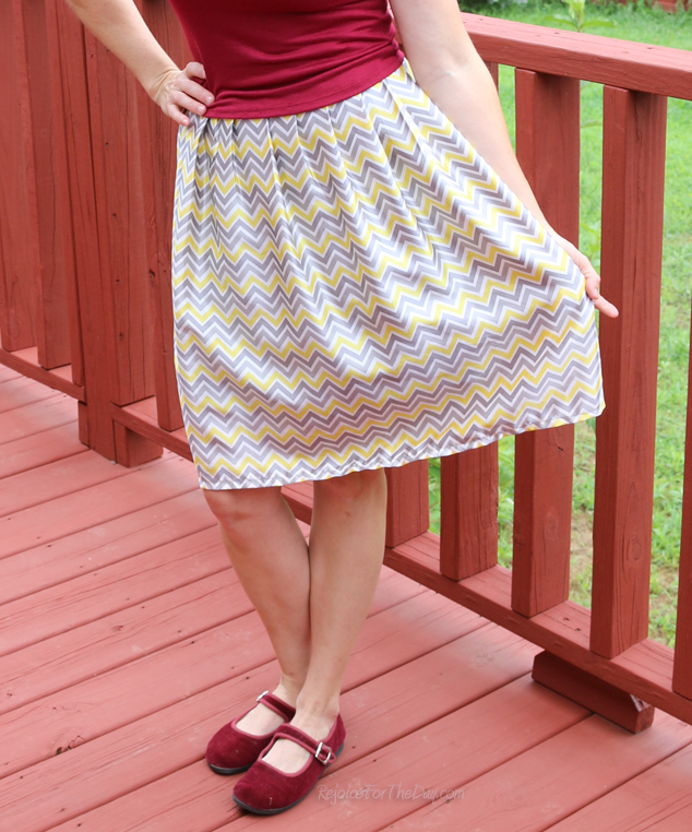high-waist skirt