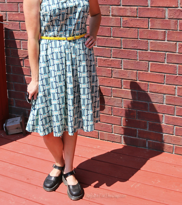 fit and flare pleated dress