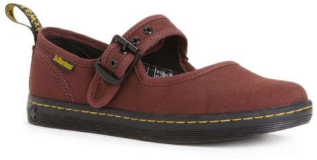 Doc Marten's Carnaby, cherry canvas Mary Janes