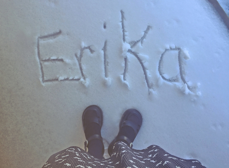 my name in snow