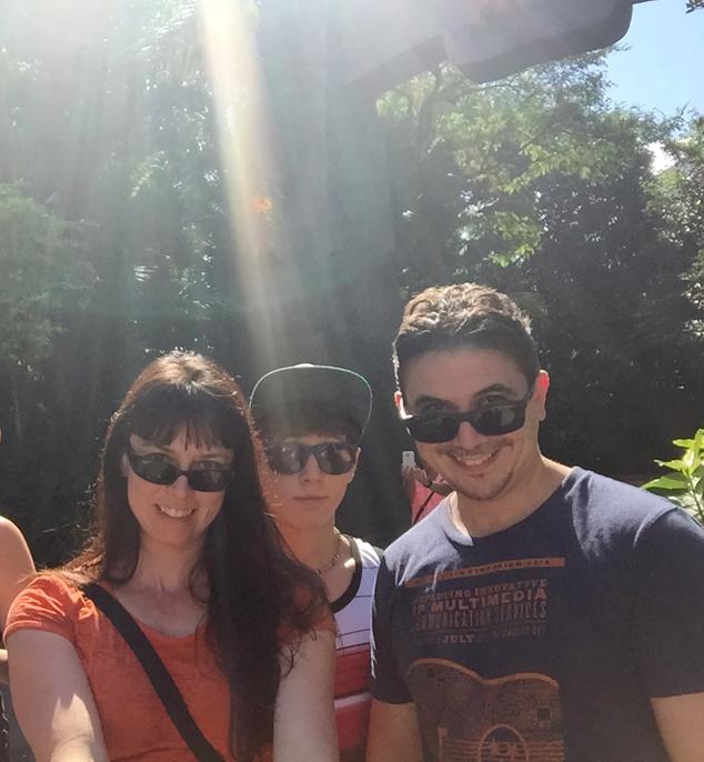 Jurassic Park selfie